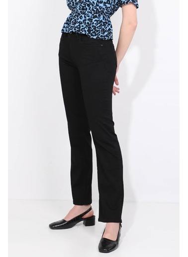 BLUE WHİTE Kadın Düz Paça Jean Pantolon Siyah Siyah